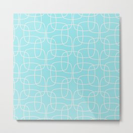 Square Pattern Mint Metal Print