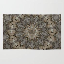 Natural Earth Tones Mandala Pattern Rug
