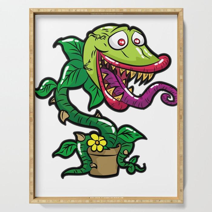 HAPPY VENUS FLYTRAP carnivorous plant funny gift Serving Tray