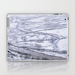 Mountain road covered in snow. 'The Struggle', road to Ambleside from the Kirkstone Pass. Laptop & iPad Skin