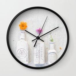 Flower Drops Wall Clock