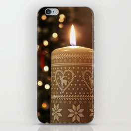 Christmas candle vertical iPhone Skin