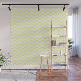 Zigzagged (Yellow & White Pattern) Wall Mural