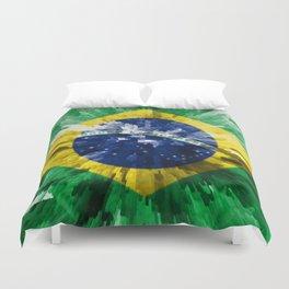Extruded flag of Brazil Duvet Cover