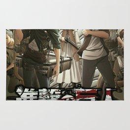 shingeki no kyojin poster 3 Rug