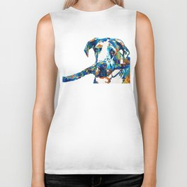 Great Dane Art - Stick With Me - By Sharon Cummings Biker Tank