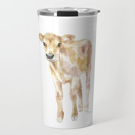 Jersey Calf Watercolor Cow Travel Mug