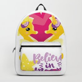 Is it a seahorse? Is it a unicorn? It is magic Backpack