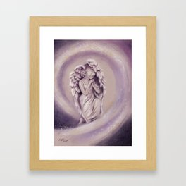 Guardian Angel - Angel painting Framed Art Print
