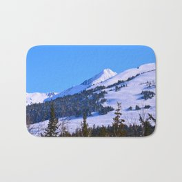 Back-Country Skiing  - IV Bath Mat