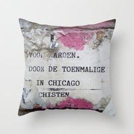 Urban poetry Throw Pillow