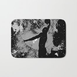 SLAM DUNK IN BLACK AND WHITE Bath Mat