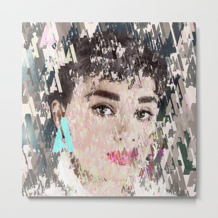 Audrey Type Abstract Art Metal Print