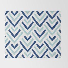 Barbados blue Throw Blanket