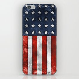 American Flag Stars and Stripes Distressed Grunge 4th. July iPhone Skin