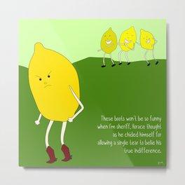 seedless lemons can be cruel as well. Metal Print