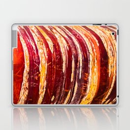 Red, yellow, brown bark of a tree - autumn colours of nature Laptop & iPad Skin