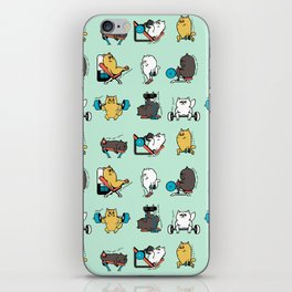 Leg Day with Persian Cat iPhone Skin