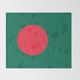 Flag of Bangladesh, High Quality Image Throw Blanket