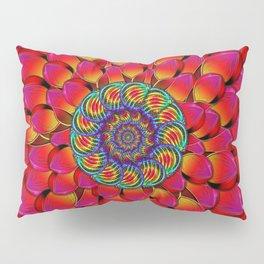 Dahlia Flower Endless Eye Abstract Pillow Sham