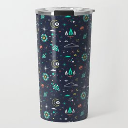 Lets take a walk (it's dark) pattern Travel Mug