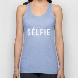 Selfie - version 2 - white Unisex Tank Top