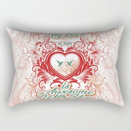 Awesome With You Rectangular Pillow