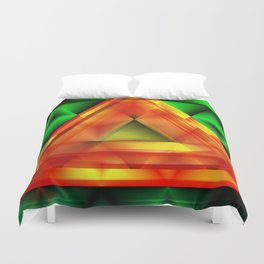 Ruby triangle Duvet Cover