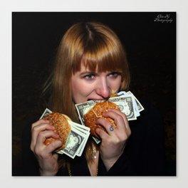 Eating Money Canvas Print