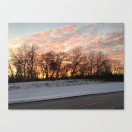 Sherbert Sunset Canvas Print