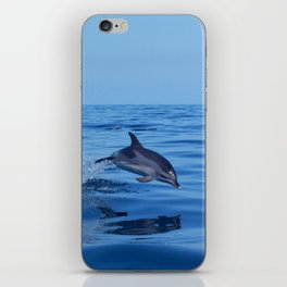 Spotted dolphin jumping in the Atlantic ocean iPhone Skin