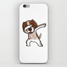 Dabbing German Shorthaired Pointer Dog Dab Dance iPhone Skin