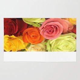 Rainbow Roses Rug