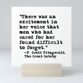 Excitement in her voice ― Fitzgerald quote Mini Art Print