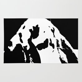 Black & White English Lop Rug
