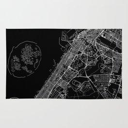 Dubai Black Map Rug