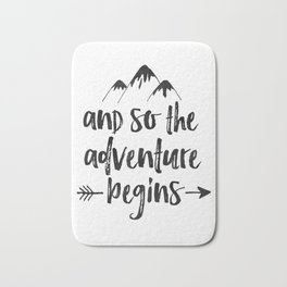 And So The Adventure Begins Sign,Adventure Awaits,Adventure Nursery,Kids Room Decor,Quote Posters,Pr Bath Mat