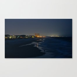 By Night: Surfside Beach (Pt. 1) Canvas Print