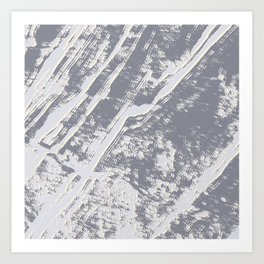 shades of gray marble effect Art Print