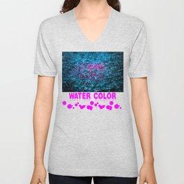 Water Color - Violet - Purple Unisex V-Neck
