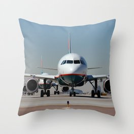 Airliner Throw Pillow