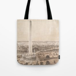 Vintage Pictorial Map of Washington DC (1852) Tote Bag