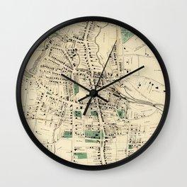Vintage Map of Danbury Connecticut (1867) Wall Clock