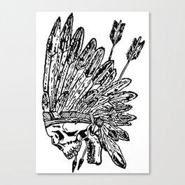 Indian chief skull head Canvas Print