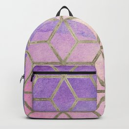 Pixie dust geometric watercolor Backpack