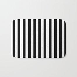 Stripes Black and White Vertical Bath Mat