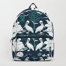 La Jolla California Beach Print Backpack