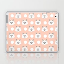 Ella - Birmin breed cat lovers pet owners cat person gift idea for cat lady hipster white cute kitte Laptop & iPad Skin
