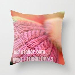 Miki   Arctic Diva, Detail  Throw Pillow
