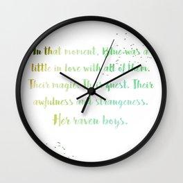 Her Raven Boys Wall Clock
